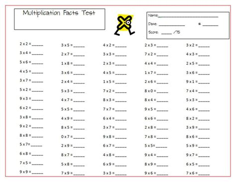 Grade Math Test Worksheets by Math Test 4th Grade Multiplication Mandy S Tips For
