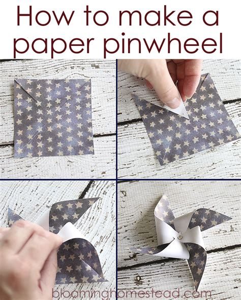 How To Make A Pinwheel Out Of Paper - how to make a pinwheel out of paper 28 images how to
