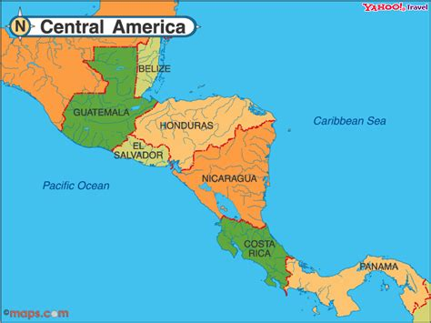 map of central and america who is the president today
