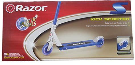 razor scooter light up wheels blue razor s light up wheels kick scooter blue green or