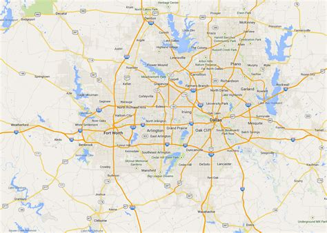 map of dallas texas and suburbs map of dallas state map of usa united states maps