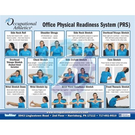 Office Desk Stretches Laminated Physical Readiness Card Office And Desk Stretch