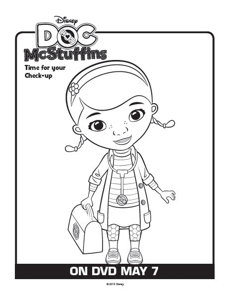 doc mcstuffins coloring pages disney junior dr mcstuffins coloring pages