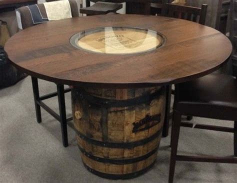 whiskey barrel dining table oaksmith