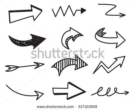 when i doodle i draw arrows doodle arrow stock images royalty free images vectors