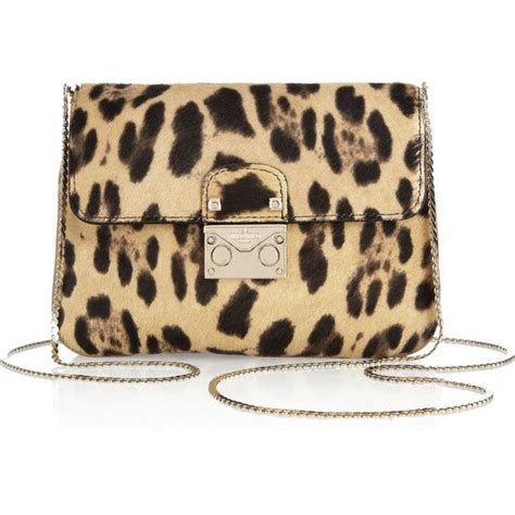 Valentino Animal Print Handbag by Valentino Leopard Print Calf Hair Shoulder Bag 570