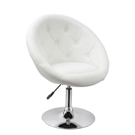 Fauteuil Oeuf Capitonn 233 Design Cuir Pu Chaise Bureau Blanc Fauteuil Bureau Blanc