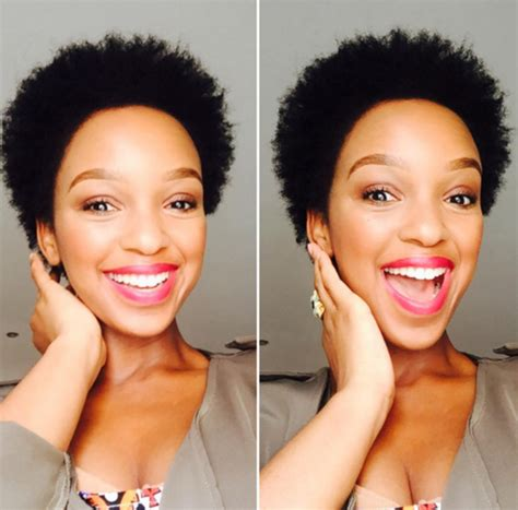 mzansi celebrities with short hair mzansi stars who proudly rock their natural hair zalebs