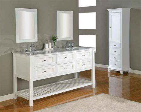 white vanity bathroom ideas j j international 70 quot pearl white mission double vanity