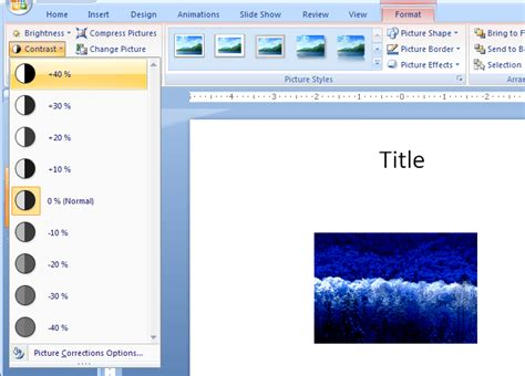 tutorial microsoft powerpoint change contrast picture 171 wordart picture clip art shape