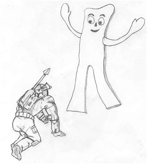 gumby coloring pages coloring pages