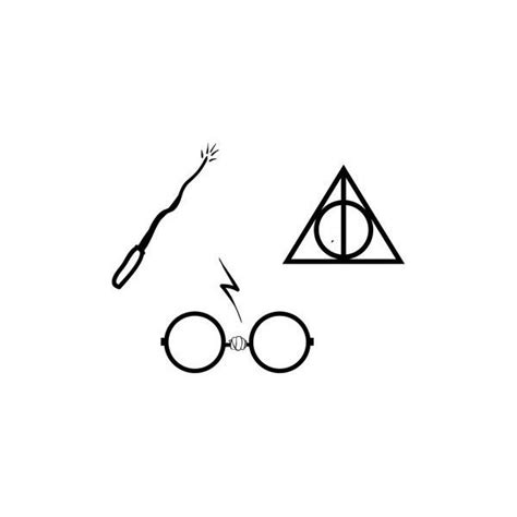 harry potter glasses tattoo harry potter tiny set of three glasses wand and deathly