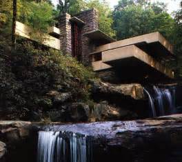 frank lloyd wright waterfall fallingwater pictures view showing two waterfalls frank