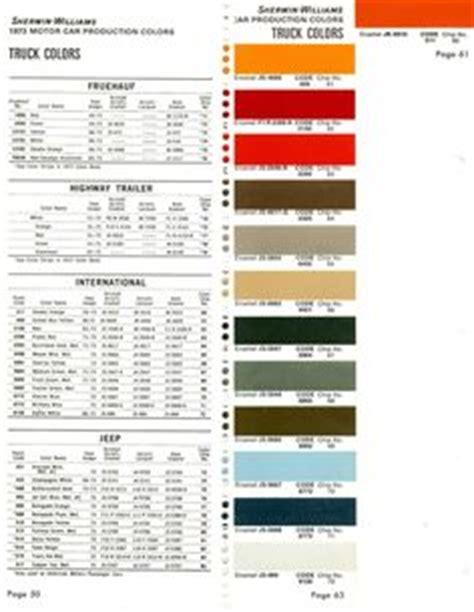 automotive paint color codes original color international scout binder bench rving