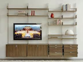 cabinets amp shelving wall shelving ideas entertainment