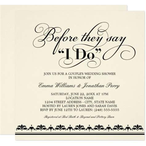 Couple S Wedding Shower Invitation Wedding Vows Zazzle Com Couples Wedding Shower Invitations Templates Free