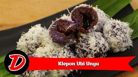 cara membuat klepon warna ungu resep cara membuat klepon ubi ungu youtube
