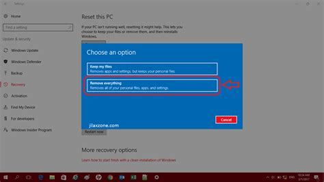 resetting windows update 10 windows 10 how to reset windows 10 pc to factory settings