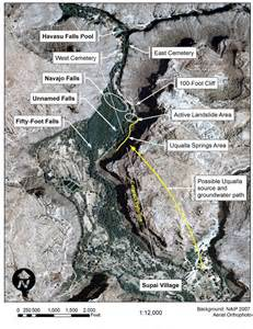 havasu falls arizona map arizona geology flooding hits havasupai area