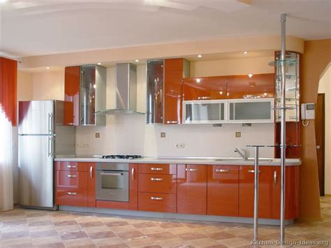 orange and white kitchen ideas pictures of modern orange kitchens design gallery