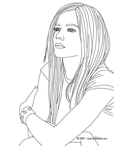 coloring pages of people s names avril lavigne coloring pages hellokids com