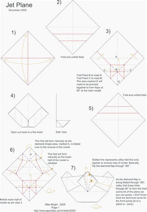 Origami Jet Plane - easy origami jet plane comot