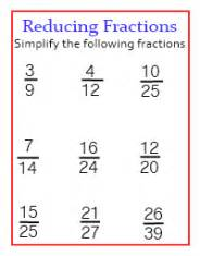 reduce fractions to simplest form worksheet abitlikethis