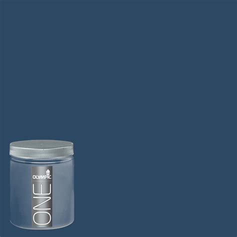 shop olympic 8 oz admiral blue interior satin paint sle at lowes