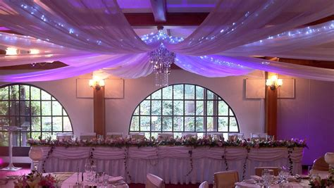 wedding ceiling draping reception decorations