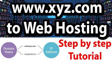 link domain   web hosting step  step