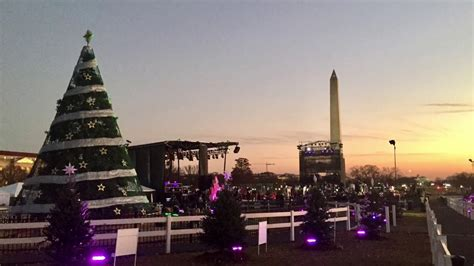national christmas tree lighting 2017 2017 national christmas tree lighting rehearsal youtube