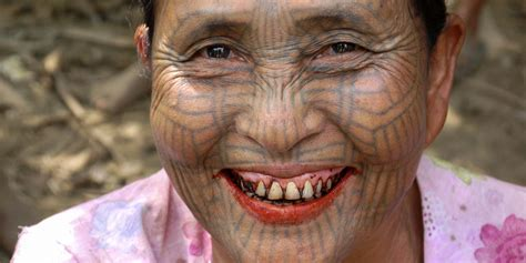 tribal chin tattoo tattoos of myanmar s chin tribe travelogues from