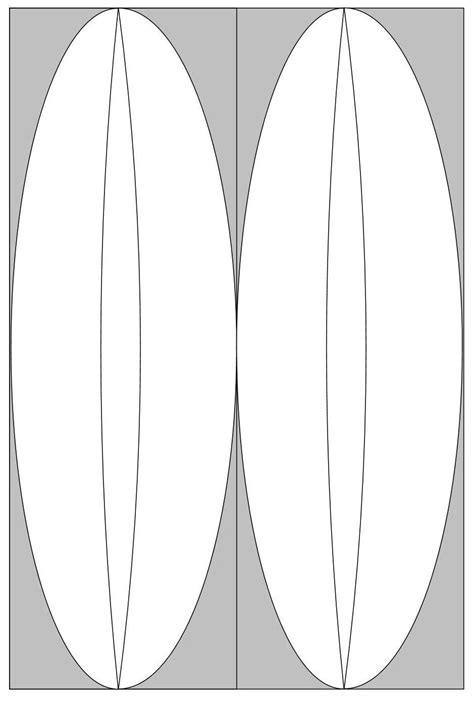 a surfboard template surf board based on 12x18 split in half and stack for