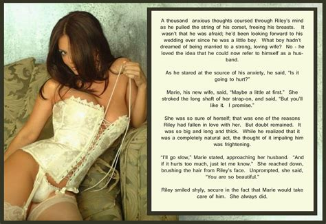 sissy gender role reversal wedding gender role reversal caption wedding night jitters