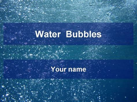 Water Bubbles Template Microsoft Powerpoint Templates Water
