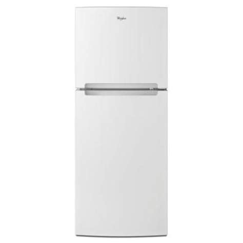 Apartment Fridge Home Depot 10 7 Cu Ft Top Freezer Refrigerator In White
