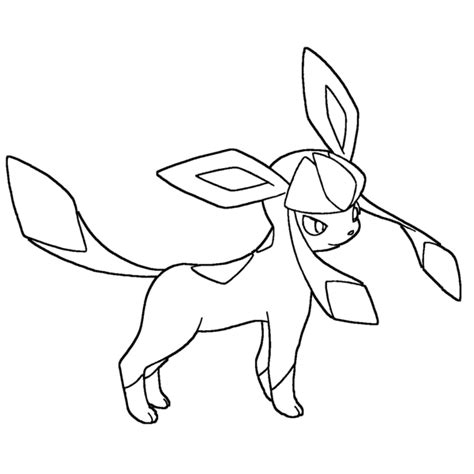 pokemon coloring pages glaceon glaceon lineart by skylight1989 on deviantart