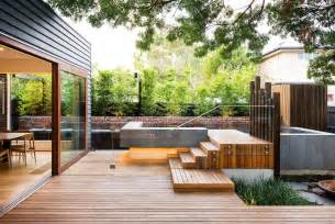 Modern Backyard Landscaping Ideas Family Modern Backyard Design For Outdoor Experiences To Come Freshome