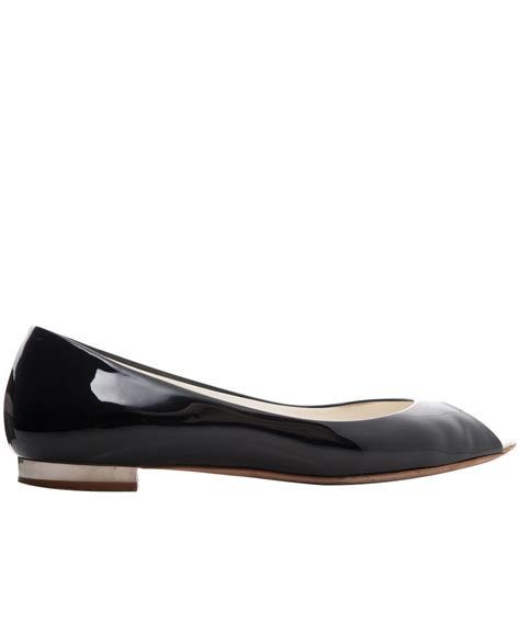 patent leather sandals flats chanel black patent leather peep toe flats artlistings