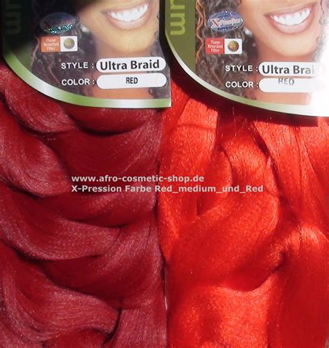 picture of red xpression braids x pression 174 ultra braid farbe rot medium afro cosmetic shop