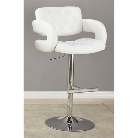 tufted bar stools with arms 35 stylish modern adjustable white leather bar stools