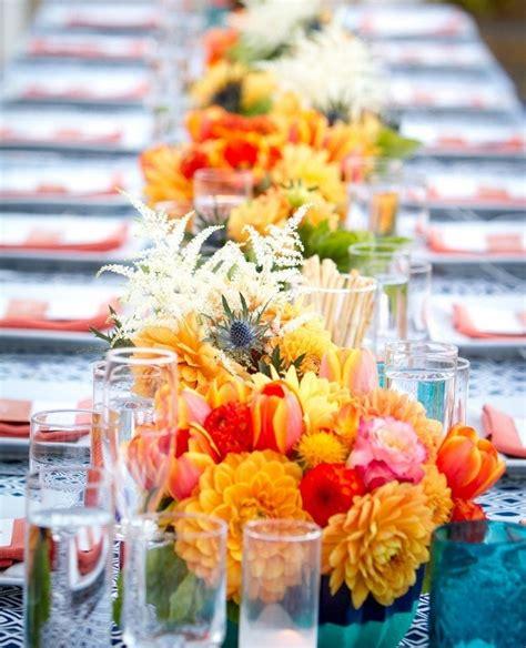 Sommer Hochzeit Deko by Ideen F 252 R Sommer Hochzeit Tischdeko Mit Bunten Blumengestecken