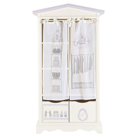 Ivory Closet by Wooden Child S Closet In Ivory W 102cm Princesse Maisons