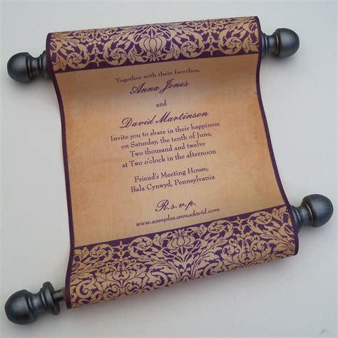 scroll invitation templates fairytale wedding invitation fabric scroll by artfulbeginnings