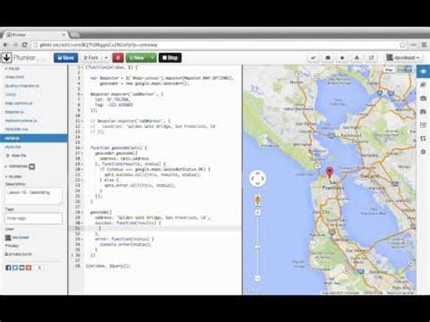 javascript tutorial map google maps geocoding by address with javascript tutorial