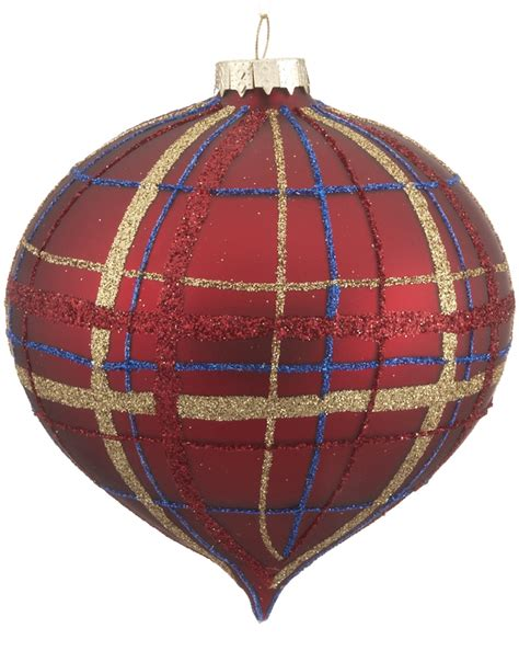 red plaid ornament christmas ornament traditional