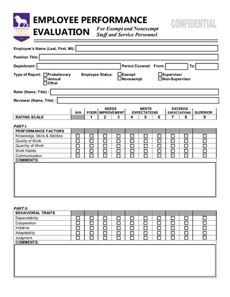 Performance Appraisal Questionnaire Mba by Employee Performance Evaluation Form Https Www Yumpu