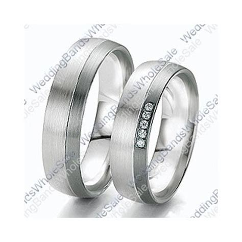 his and hers white gold wedding bands 18k white gold 6mm 0 10ct his and hers wedding rings set 236