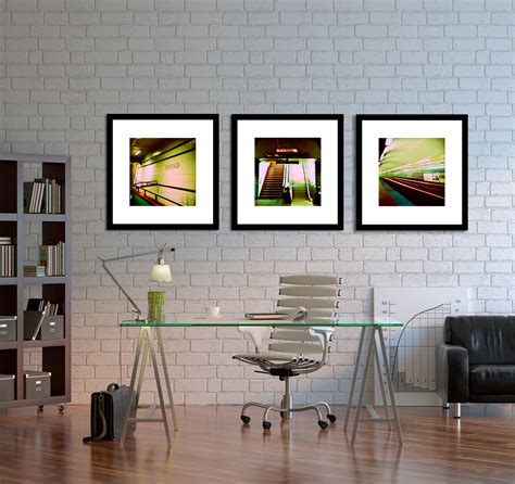 chicago photography home decor chicago subway wall