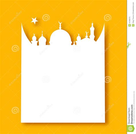 eid mubarak card template greeting card template for ramadan kareem stock vector